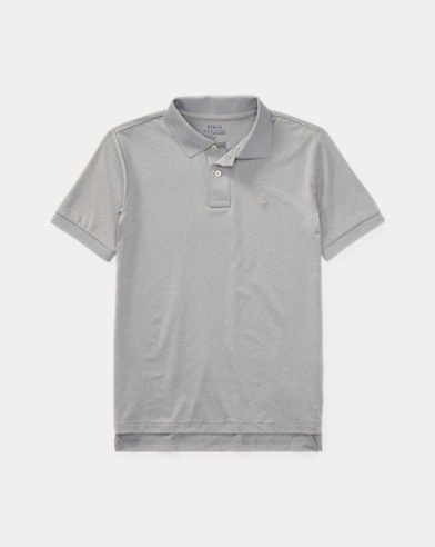 폴로 랄프로렌 보이즈 반팔 카라티 그레이 Polo Ralph Lauren Performance Jersey Polo Shirt,Lt Grey Heather