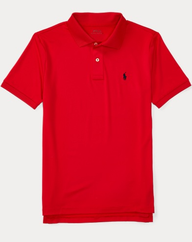 폴로 랄프로렌 보이즈 반팔 카라티 레드 Polo Ralph Lauren Performance Jersey Polo Shirt,African Red