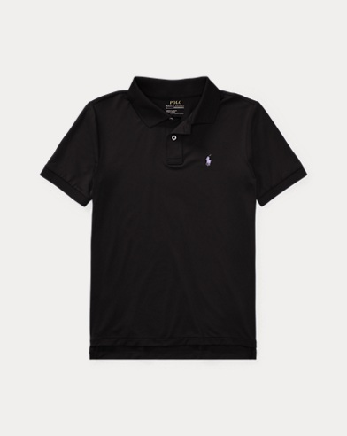 폴로 랄프로렌 보이즈 반팔 카라티 블랙 Polo Ralph Lauren Performance Jersey Polo Shirt,Polo Black