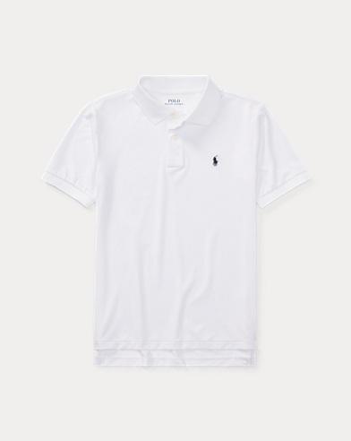 폴로 랄프로렌 보이즈 반팔 카라티 화이트 Polo Ralph Lauren Performance Jersey Polo Shirt,White