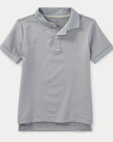 폴로 랄프로렌 남아용 반팔 카라티 그레이 Polo Ralph Lauren Performance Jersey Polo Shirt,Lt Grey Heather