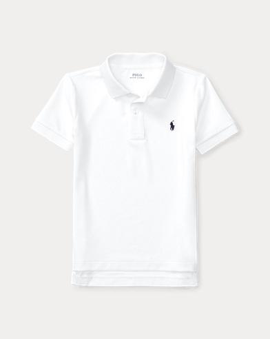 폴로 랄프로렌 남아용 반팔 카라티 화이트 Polo Ralph Lauren Performance Jersey Polo Shirt,White