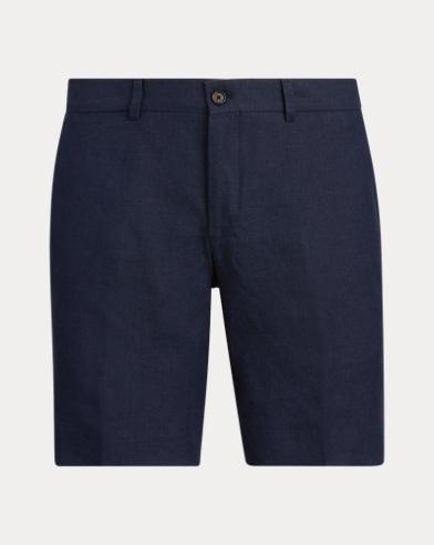 폴로 랄프로렌 Polo Ralph Lauren Straight Fit Linen Short,Classic Chairman Navy