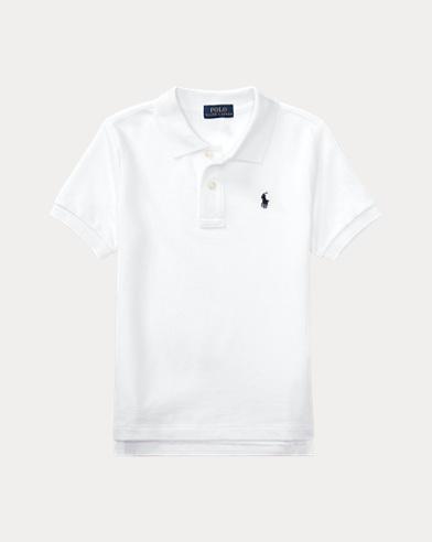 폴로 랄프로렌 남아용 반팔 카라티 화이트 Polo Ralph Lauren Cotton Mesh Polo Shirt,White