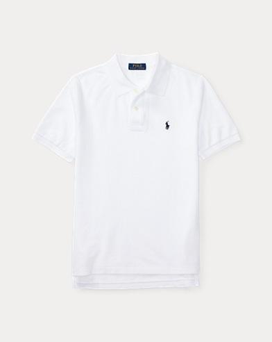 폴로 랄프로렌 보이즈 반팔 카라티 화이트 Polo Ralph Lauren Cotton Mesh Polo Shirt,White