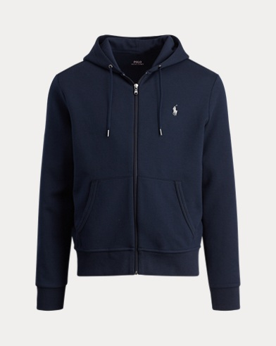 폴로 랄프로렌 Polo Ralph Lauren Double-Knit Full-Zip Hoodie,Aviator Navy