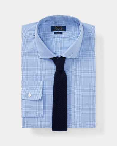 폴로 랄프로렌 슬림핏 셔츠 Polo Ralph Lauren Slim Fit Gingham Poplin Shirt,1070 Mini Blue/White