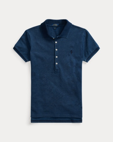 폴로 랄프로렌 Polo Ralph Lauren Slim Fit Stretch Polo Shirt,Dark Indigo
