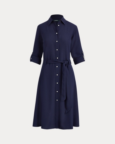 폴로 랄프로렌 셔츠 드레스 네이비 Polo Ralph Lauren Fit-and-Flare Shirtdress,Navy