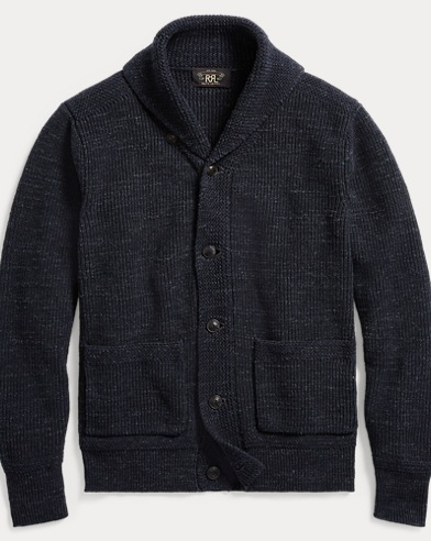 폴로 랄프로렌 Polo Ralph Lauren Cotton Shawl-Collar Cardigan,Navy
