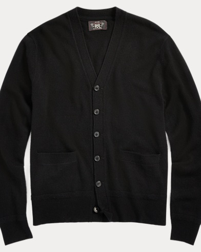 폴로 랄프로렌 Polo Ralph Lauren Cashmere V-Neck Cardigan,Black