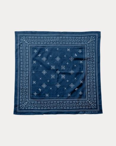 폴로 랄프로렌 남성 스카프 Polo Ralph Lauren Traditional Print Bandanna,Rinsed Indigo