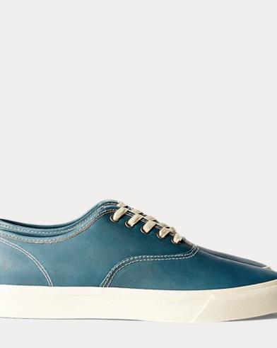 폴로 랄프로렌 Polo Ralph Lauren New Norfolk Leather Sneaker,True Indigo