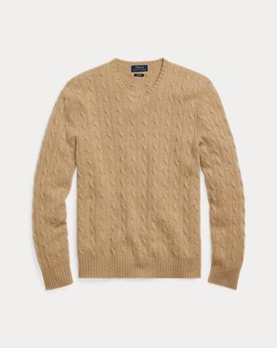 폴로 랄프로렌 꽈배기 니트 캐시미어 스웨터 카멜 Polo Ralph Lauren Cable-Knit Cashmere Sweater