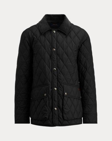 폴로 랄프로렌 아이코닉 퀼팅 카 코트 블랙 Polo Ralph Lauren The Iconic Quilted Car Coat, Polo Black