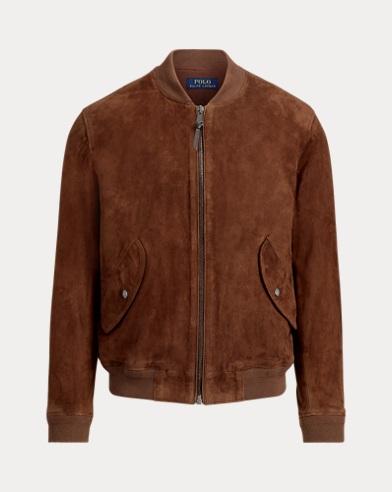 폴로 랄프로렌 스웨이드 붐버 자켓 (브라운) Polo Ralph Lauren Suede Bomber Jacket,Country Brown