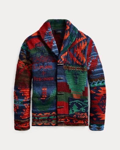 폴로 랄프로렌 Polo Ralph Lauren The Iconic Patchwork Cardigan,Multi Patchwork