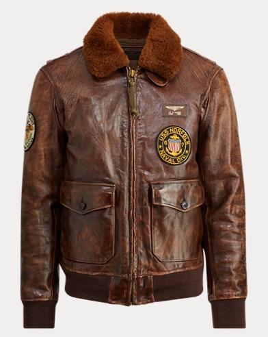 폴로 랄프로렌 아이코닉 G-1 붐버 자켓 Polo Ralph Lauren The Iconic G-1 Bomber Jacket,Bison Brown