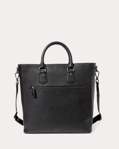 폴로 랄프로렌 토트백 블랙 Polo Ralph Lauren Pebbled Leather Tote,Black