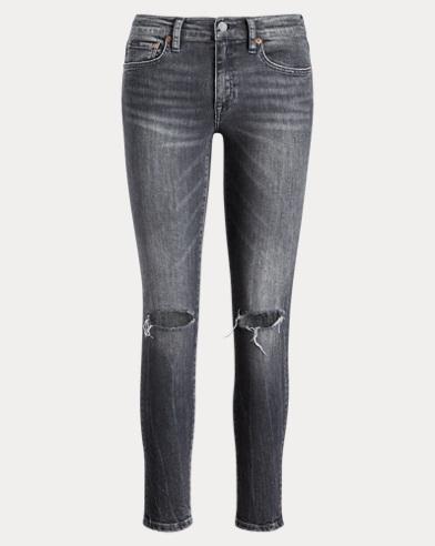 폴로 랄프로렌 Polo Ralph Lauren Tompkins Skinny Crop Jean,Washed Black
