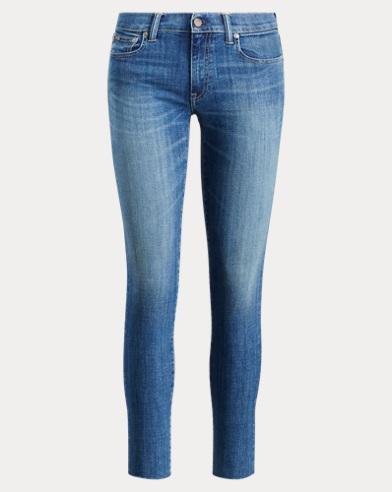 폴로 랄프로렌 Polo Ralph Lauren Tompkins Skinny Crop Jean,Medium Indigo