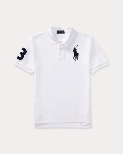 폴로 랄프로렌 Polo Ralph Lauren Cotton Mesh Polo Shirt,White