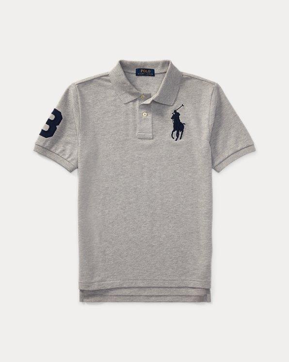 폴로 랄프로렌 보이즈 폴로 셔츠 Polo Ralph Lauren Big Pony Cotton Mesh Polo,Andover Heather