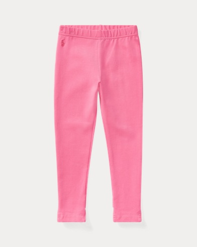 폴로 랄프로렌 여아용 레깅스 핑크 Polo Ralph Lauren Bow-Back Jersey Legging,Baja Pink