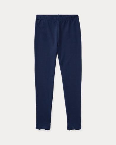 폴로 랄프로렌 레깅스팬츠 Polo Ralph Lauren Bow-Back Jersey Legging,French Navy