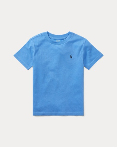 폴로 랄프로렌 남아용 반팔 티셔츠 블루 Polo Ralph Lauren Cotton Jersey Crewneck T-Shirt,Scottsdale Blue