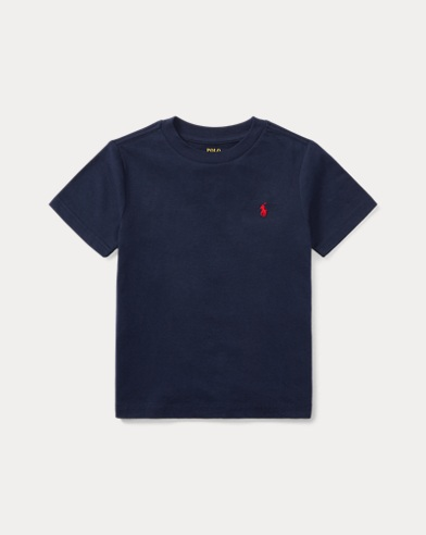 폴로 랄프로렌 남아용 반팔 티셔츠 네이비 Polo Ralph Lauren Cotton Jersey Crewneck T-Shirt,Cruise Navy