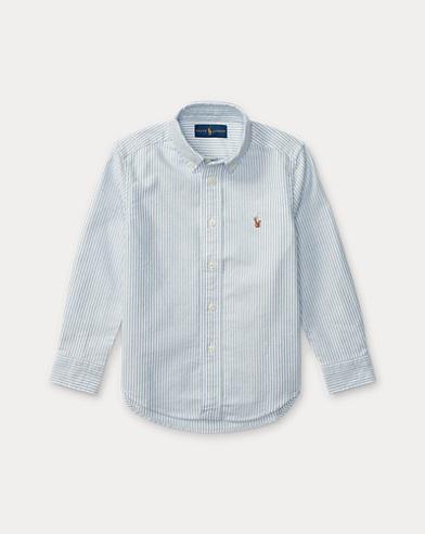 폴로 랄프로렌 남아용 옥스포드 셔츠 라이트 블루 Polo Ralph Lauren Striped Cotton Oxford Shirt