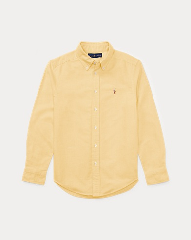 폴로 랄프로렌 보이즈 코튼 옥스포드 셔츠 - 옐로우 Polo Ralph Lauren Cotton Oxford Shirt,Yellow