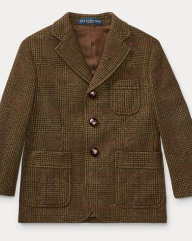 폴로 랄프로렌 남아용 울 캐시미어 코트 Polo Ralph Lauren Wool-Cashmere Twill Sport Coat,Brown Multi