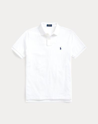 폴로 랄프로렌 Polo Ralph Lauren Custom Slim Fit Mesh Polo,White