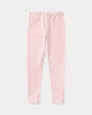 폴로 랄프로렌 Polo Ralph Lauren Bow-Back Jersey Legging,Hint Of Pink