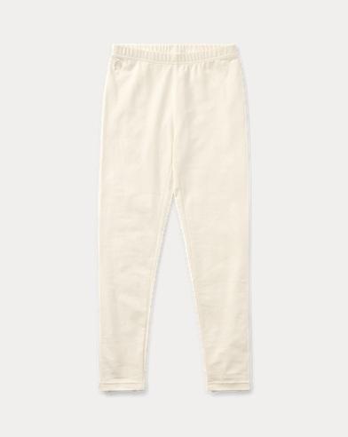 폴로 랄프로렌 Polo Ralph Lauren Bow-Back Jersey Legging,Olympia Cream