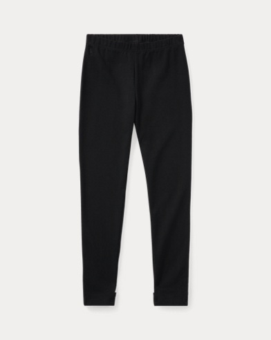 폴로 랄프로렌 Polo Ralph Lauren Bow-Back Jersey Legging,Polo Black