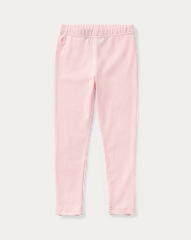 폴로 랄프로렌 여아용 레깅스 핑크 Polo Ralph Lauren Bow-Back Jersey Legging,Hint Of Pink