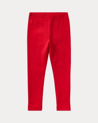 폴로 랄프로렌 여아용 레깅스 레드 Polo Ralph Lauren Bow-Back Jersey Legging,Park Ave Red