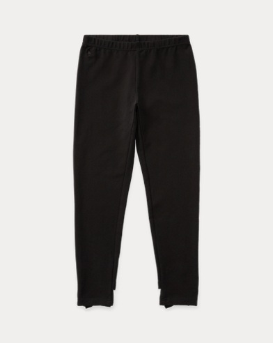 폴로 랄프로렌 여아용 레깅스 블랙 Polo Ralph Lauren Bow-Back Jersey Legging,Polo Black