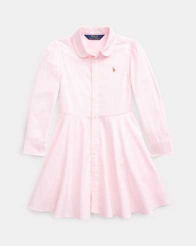 폴로 랄프로렌 여아용 셔츠원피스 Polo Ralph Lauren Cotton Oxford Shirtdress,Deco Pink
