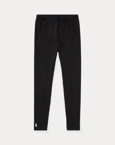 폴로 랄프로렌 여아용 레깅스 블랙 Polo Ralph Lauren Stretch Jersey Legging,Polo Black