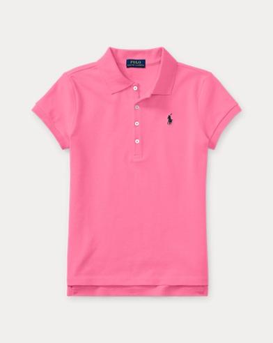 폴로 랄프로렌 걸즈 반팔 카라티 핑크 Polo Ralph Lauren Short Sleeve Polo,Baja Pink