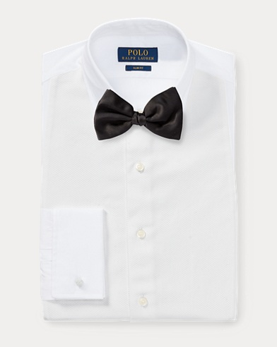 폴로 랄프로렌 슬림핏 셔츠 Polo Ralph Lauren Slim Fit Poplin Tuxedo Shirt,White