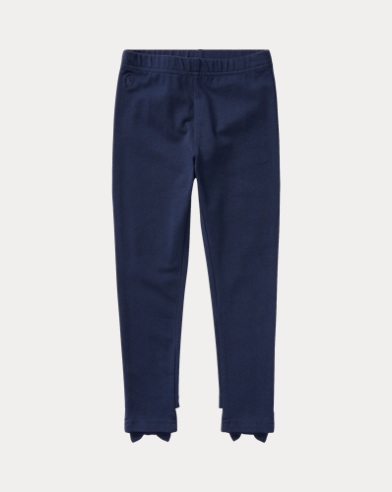 폴로 랄프로렌 여아용 레깅스 네이비 Polo Ralph Lauren Bow-Back Jersey Legging,French Navy