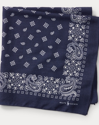 폴로 랄프로렌 Polo Ralph Lauren Bandanna Pocket Square,Navy