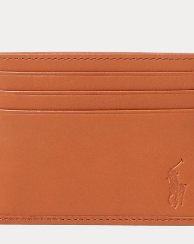 폴로 랄프로렌 카드 지갑 위스키 Polo Ralph Lauren Leather Card Case,Whiskey