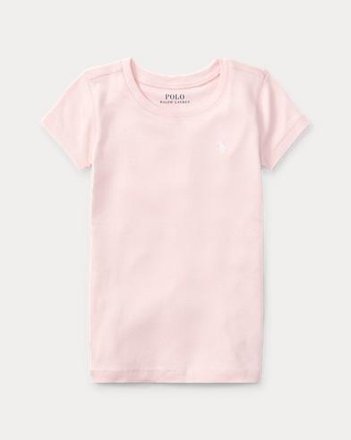 폴로 랄프로렌 여아용 반팔 티셔츠 Polo Ralph Lauren Crewneck T-Shirt,Posy