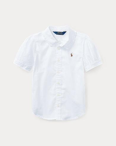 폴로 랄프로렌 여아용 옥스포드 셔츠 화이트 Polo Ralph Lauren Oxford Shirt